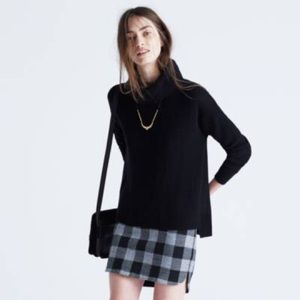 Madewell Convertible Turtleneck Sweater Black M